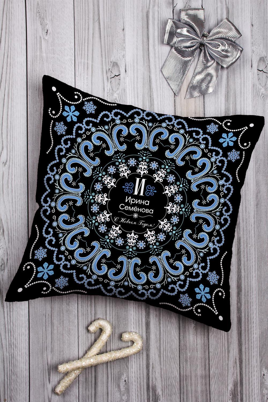 Подушка декоративная с Вашим именем Точечная роспись