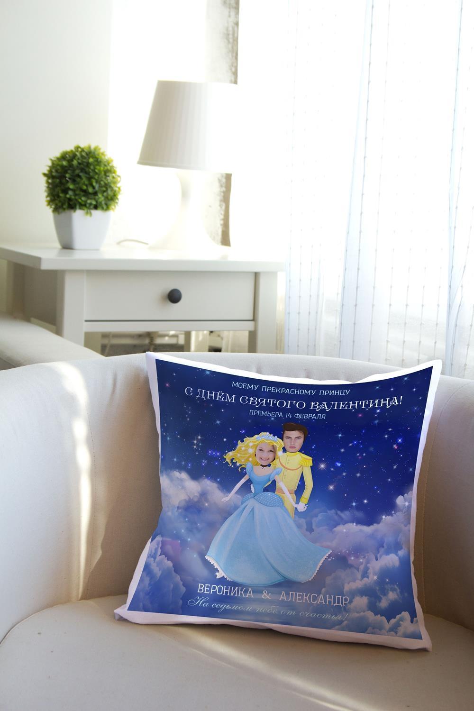 Подушка декоративная с Вашим именем ЗолушкаДекоративные подушки<br>Подушка декоративная, 35*35см, габардин, с нанесением персонального текста<br>