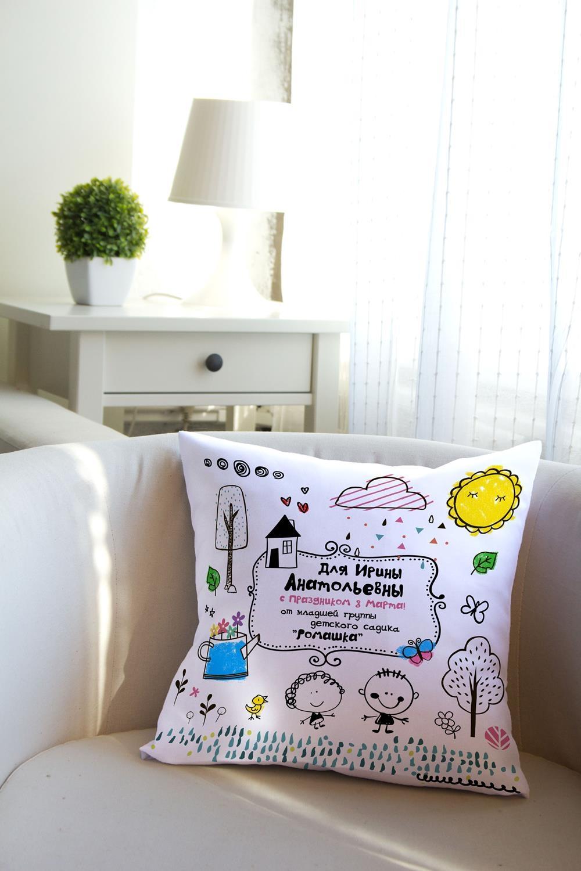 Подушка декоративная с Вашим именем Детская коллекцияИнтерьер<br>Подушка декоративная, 35*35см, габардин, с нанесением персонального текста<br>