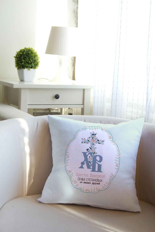 Подушка декоративная с Вашим именем Традиционная ПасхаИнтерьер<br>Подушка декоративная, 35*35см, габардин, с нанесением персонального текста<br>