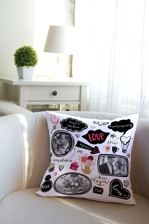 Подушка декоративная с Вашим именем ЖенатикиИнтерьер<br>Подушка декоративная, 35*35см, габардин, с нанесением персонального текста<br>