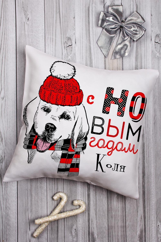 Подушка декоративная с Вашим именем Подарок в год собакиИнтерьер<br>Подушка декоративная, 35*35см, габардин, с нанесением персонального текста<br>