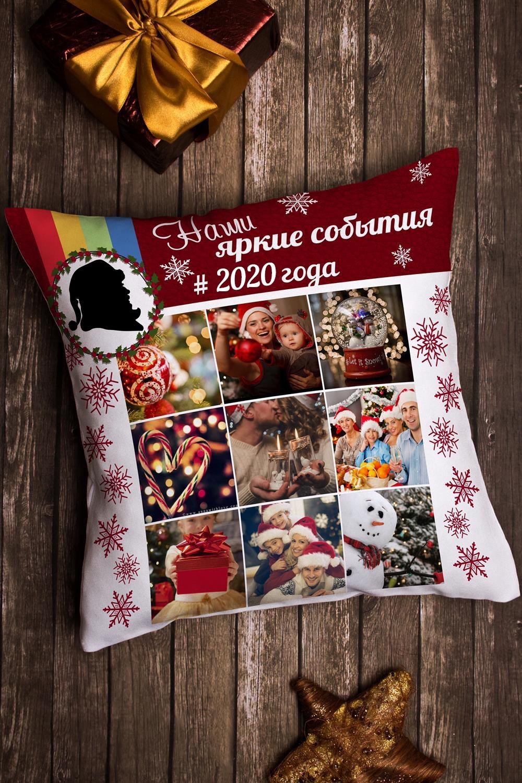 Подушка декоративная с Вашим именем Новогодний инстаграмИнтерьер<br>Подушка декоративная, 35*35см, габардин, с нанесением персонального текста<br>