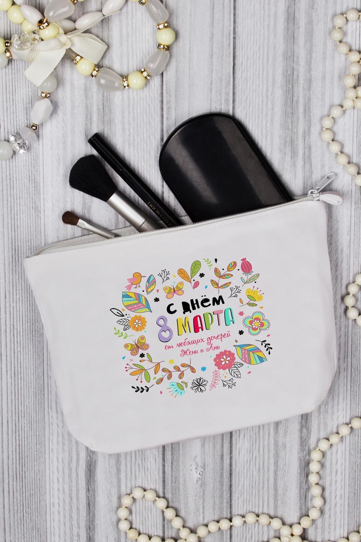 Косметичка с Вашим текстом Любимой маме косметичка dumpling packages 2014