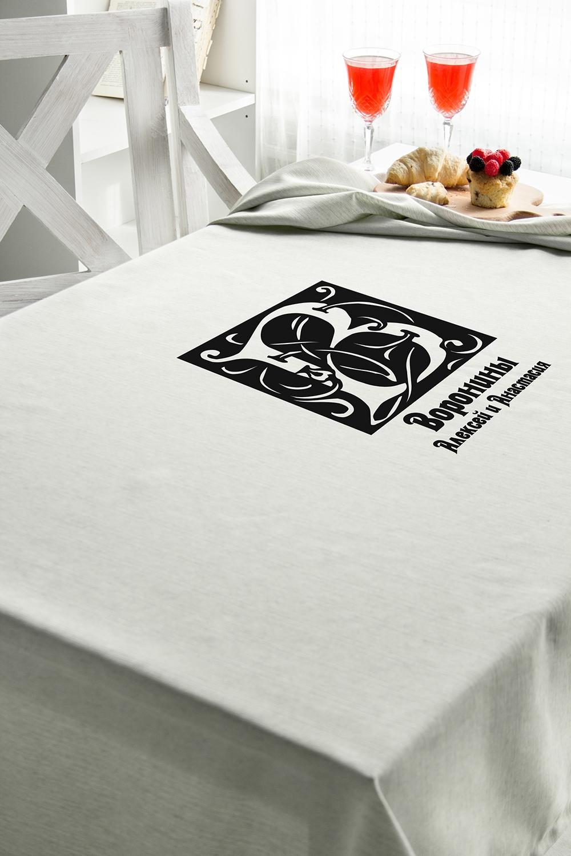 Скатерть с Вашим текстом Фамильный гербКухонный текстиль<br>Скатерть прямоугольная, 140*180см, бязь, с нанесением текста<br>