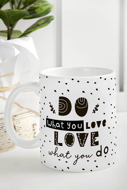 Кружка Do what you loveИнтерьер<br>Размер: 310мл, Выс=9.5см. Материал: керамика.<br>