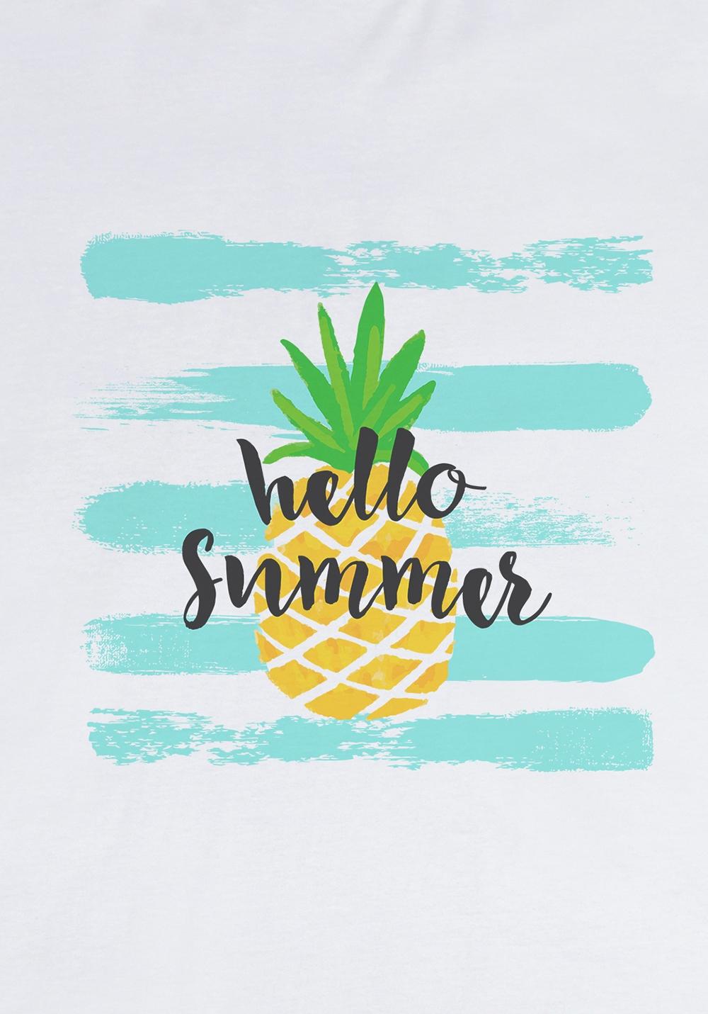 "Футболка мужская ""С надписью Hello Summer"""