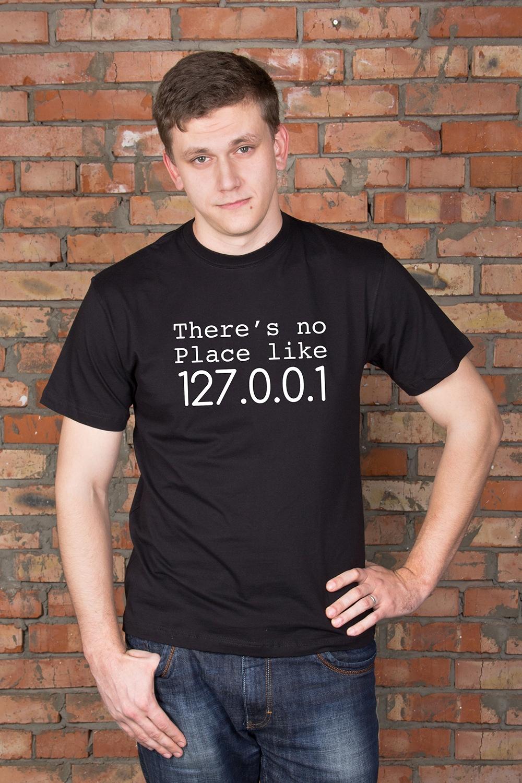 Футболка мужская с вашим текстом There is no plaсeКорпоративные и Бизнес подарки<br>Футболка мужская с Вашим текстом, 100% хлопок, черная<br>