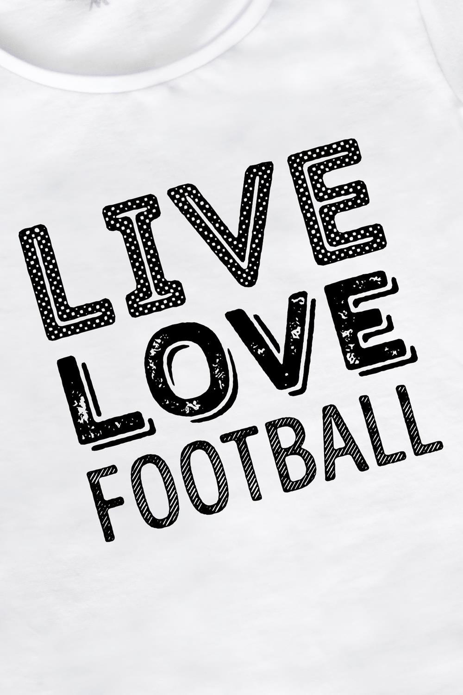 "Футболка женская ""Live love football"""