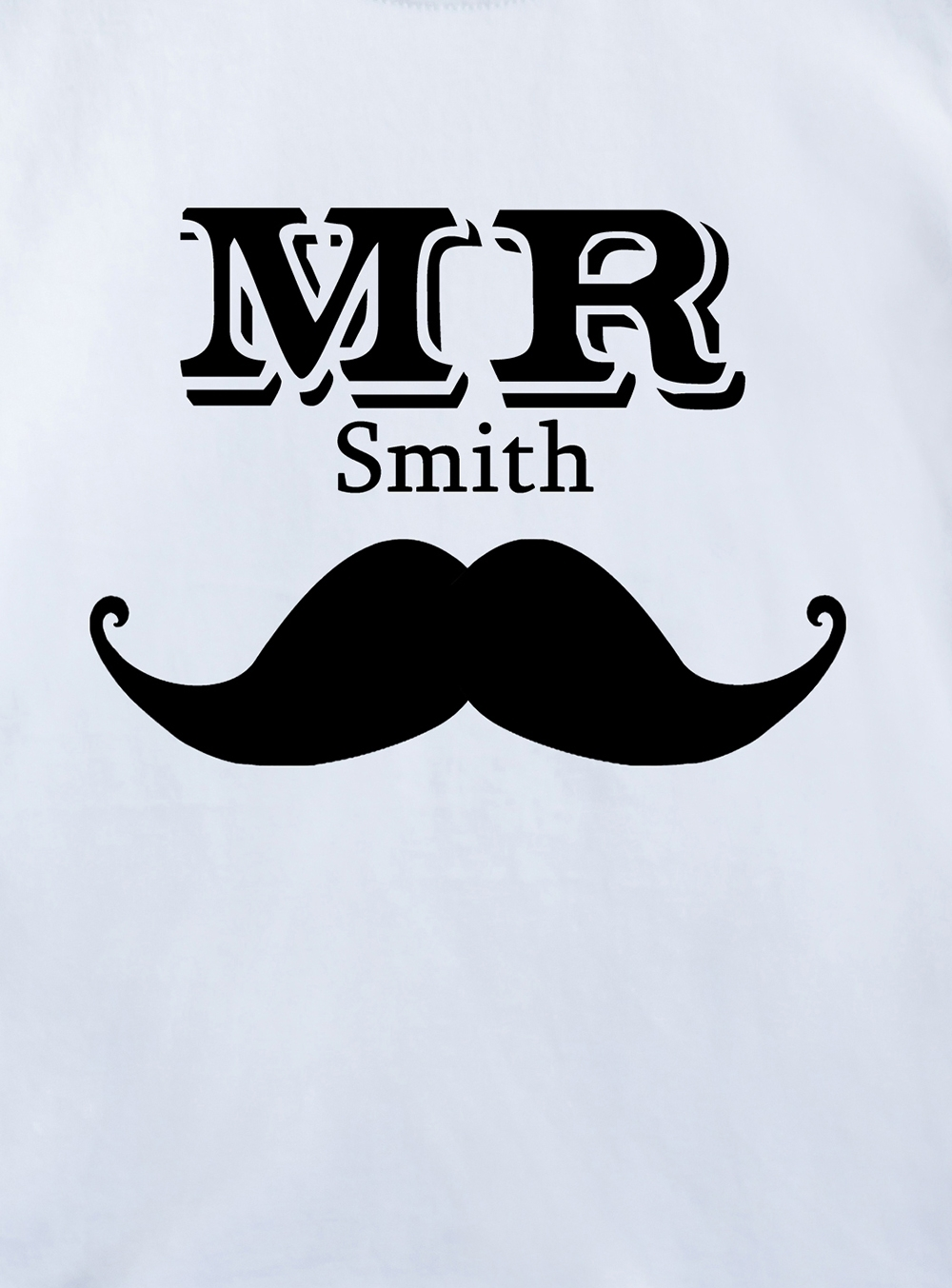 """Футболка детская с вашим текстом """"Mr & Mrs Smith"""" от Красный куб"""