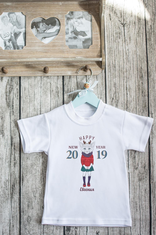Футболка детская с вашим текстом Новогодние хипстерыНовогодние подарки девочке<br>100% хлопок, белая, с нанесением текста<br>