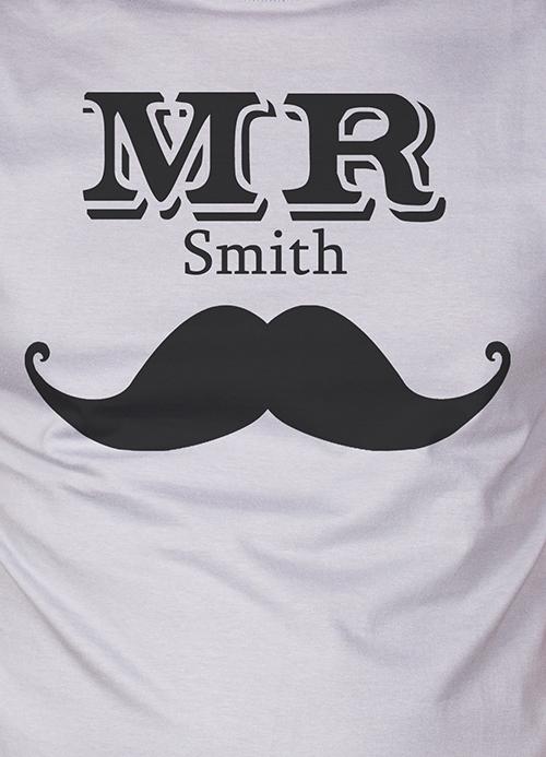"Футболка мужская с вашим текстом ""Mr & Mrs Smith"""