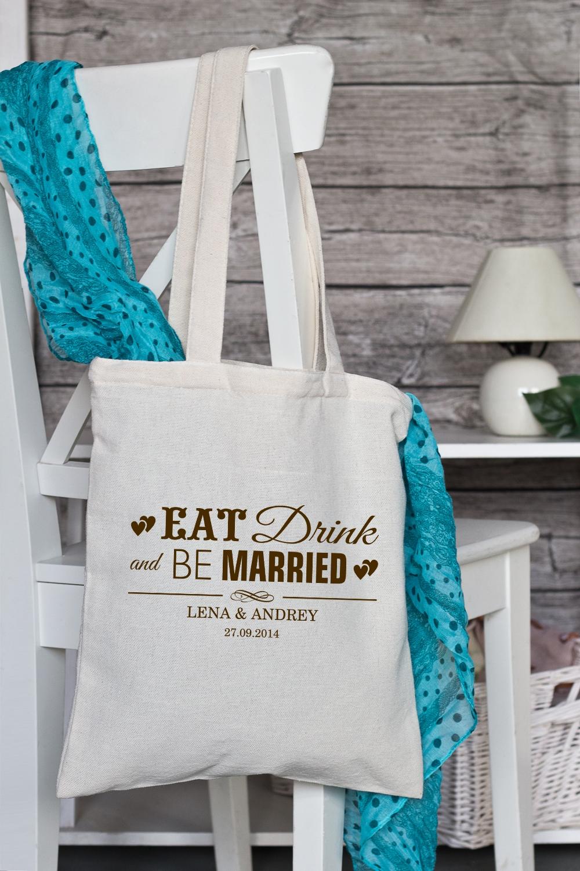 """Сумка с Вашим текстом """"Be Married"""""""