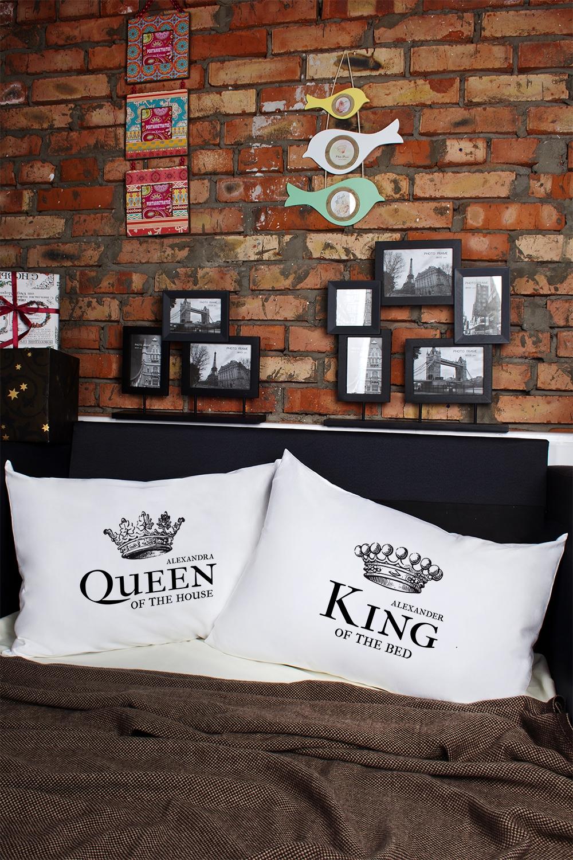 Наволочки с Вашим текстом King &amp; QueenДекоративные подушки<br>Персональные наволочки с Вашим текстом, 2шт., размер 50х70см, материал: 100% хлопок<br>