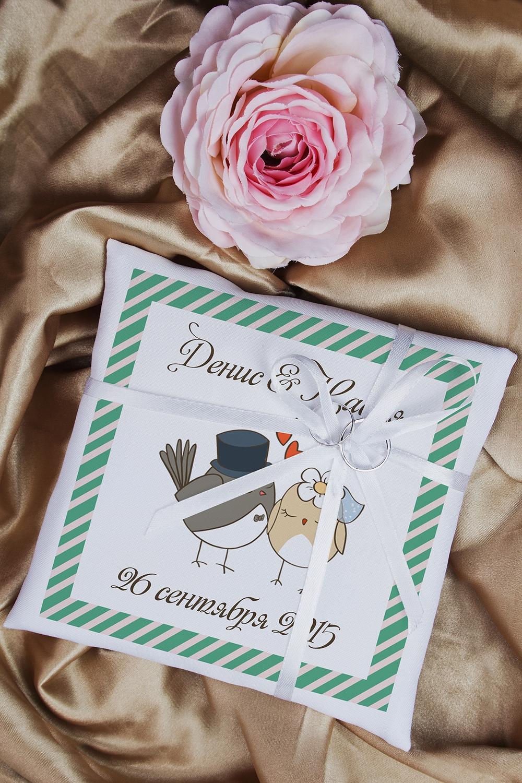Свадебная подушечка для колец с Вашими именами