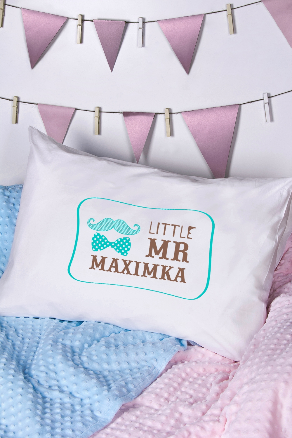 Наволочка с Вашим текстом Little Mr & Mrs наволочка brand new 2015 mr right mrs al pillow case