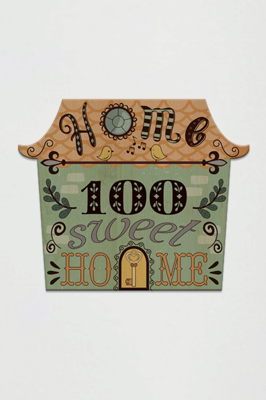 Табличка на дверь с вашим текстом Веселый домикИнтерьер<br>Табличка с номером Вашей квартиры/дома, 20см*16,5см, дерево<br>