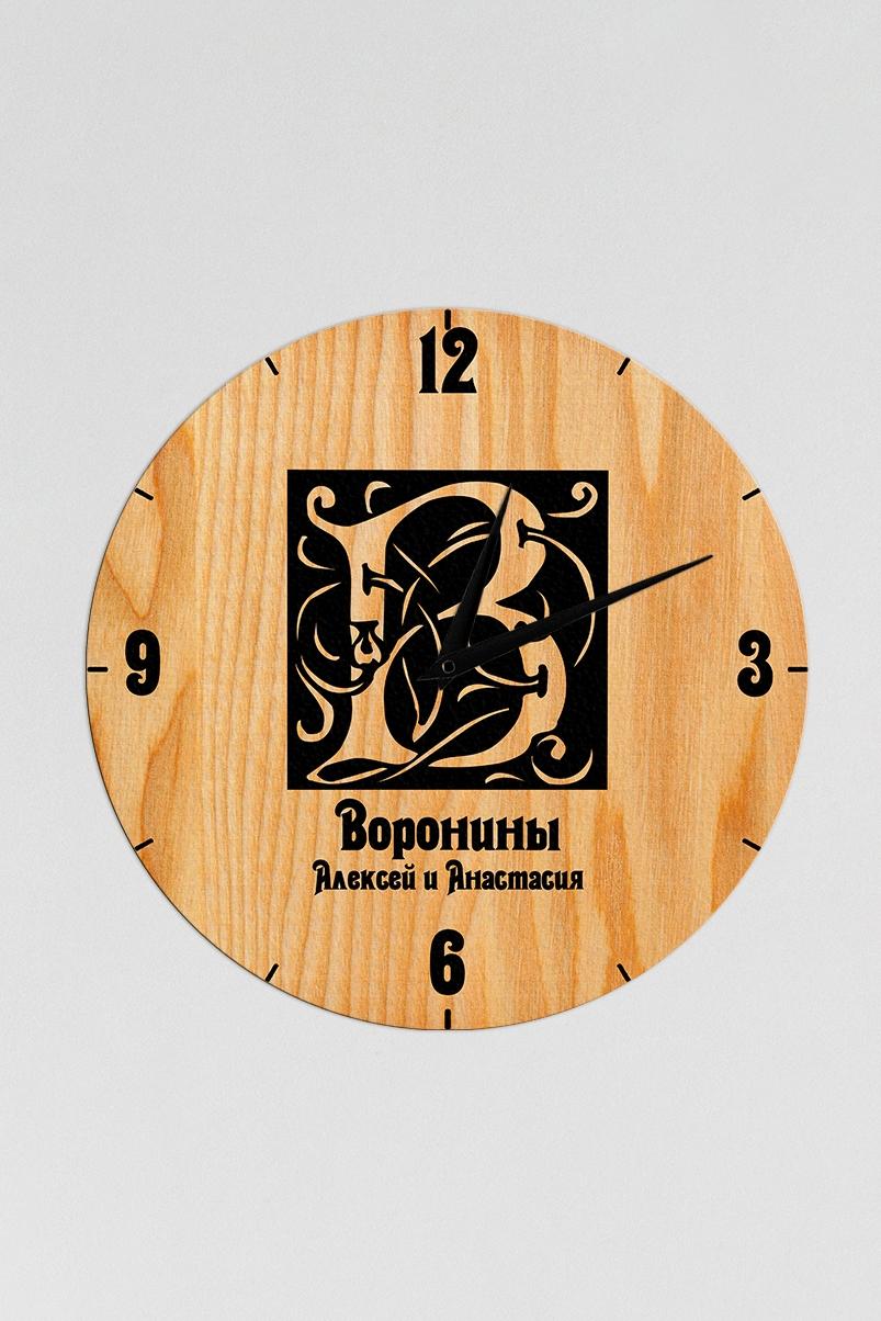 Часы настенные с Вашим именем Фамильный гербИнтерьер<br>Оригинальные часы с именной надписью, размер 30Х30см, толщина 0,5 см, материал: МДФ.<br>