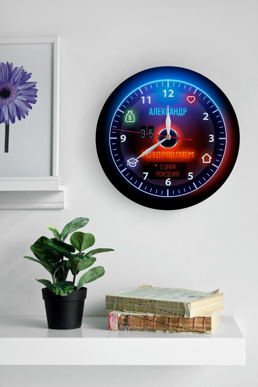 Часы настенные с Вашим текстом Подарок автомобилистуИнтерьер<br>Часы настенные из акрила с Вашим текстом. Диаметр = 30см.<br>