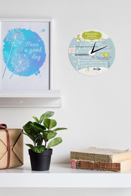 Часы настенные с Вашим именем Помощник родителямПодарки ко дню рождения<br>Оригинальные часы с именной надписью, размер 30Х30см, толщина 0,5 см, материал: МДФ.<br>