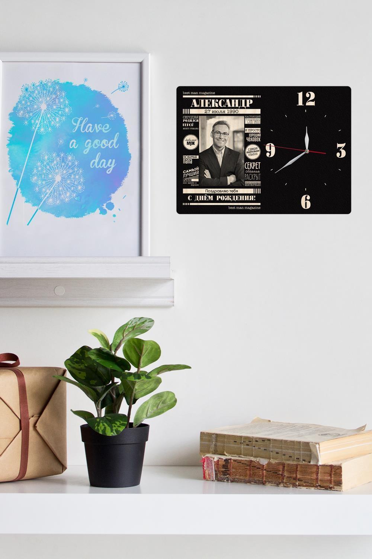 Часы настенные с Вашим именем Best man magazineИнтерьер<br>Оригинальные часы с именной надписью, размер 42Х30см, толщина 0,5 см, материал: МДФ.<br>