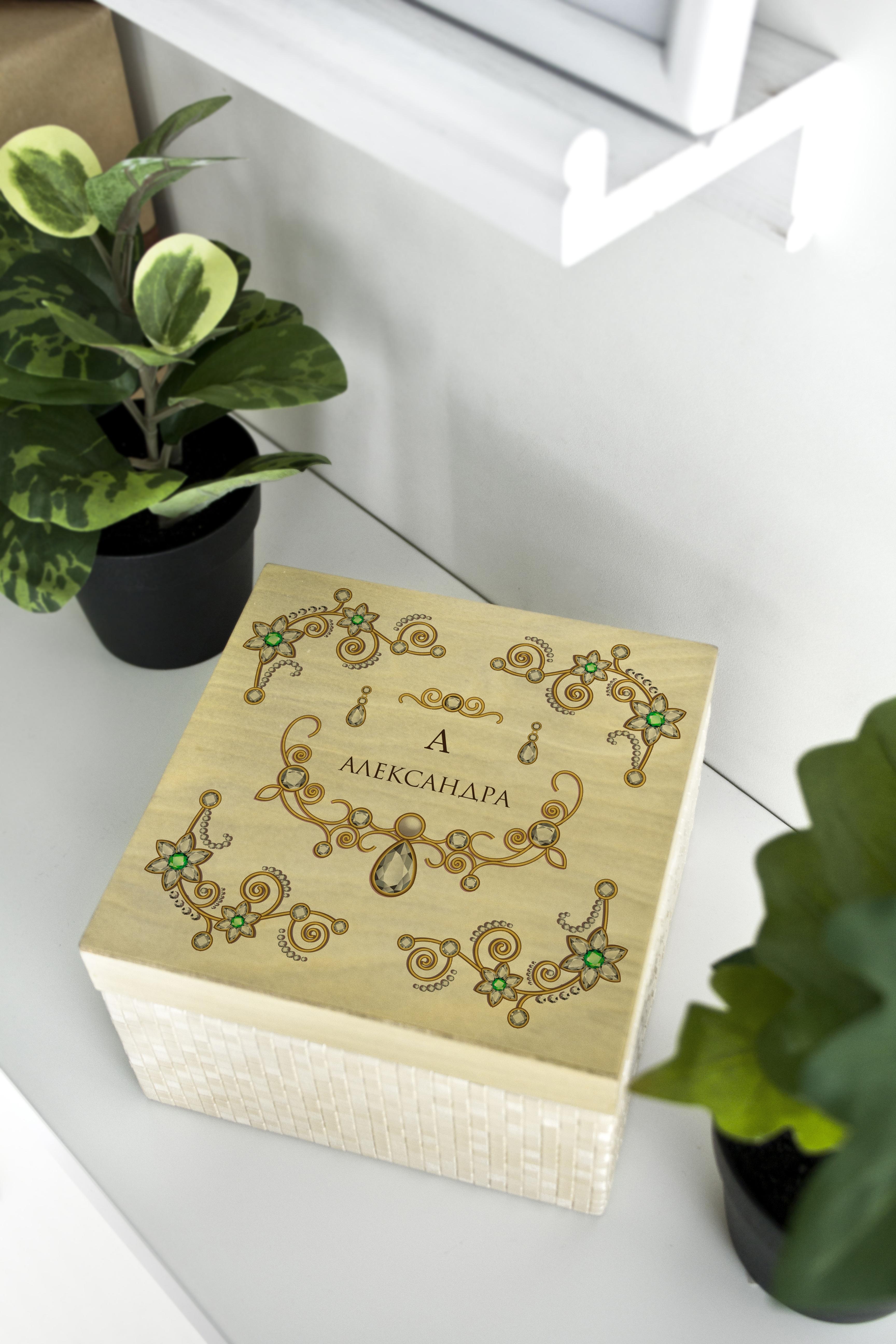 Фотография Шкатулка для ювелирных украшений с вашим текстом