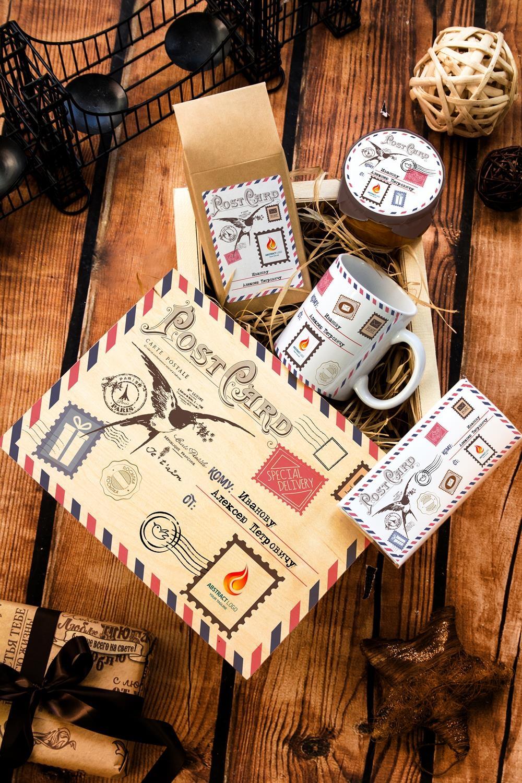 Набор сладостей с Вашим текстом ПосылкаСувениры и упаковка<br>Набор именных сладостей в персональной подарочной коробке, 5 предметов (чай чёрный: 100г, Имбирное варенье: 200г, молочный шоколад с изюмом и орехами: 90г, кружка с Вашим текстом, подарочная коробка с Вашим текстом).<br>