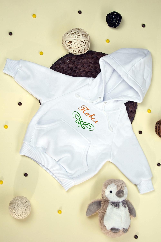 Толстовка детская ОрнаментПодарки<br>Толстовка детская с нанесением текста, размер 98, белая Орнамент. Материал: 100% хлопок. Теплая флисовая подкладка. Персональная вышивка и аппликация<br>