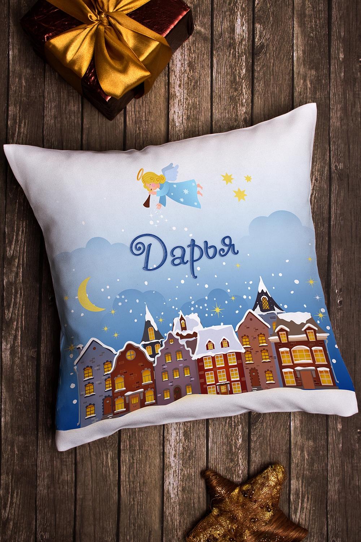 Подушка декоративная в именной вышивкой РождествоИнтерьер<br>Подушка декоративная, 35*35см, текстиль, с персональной вышивкой<br>