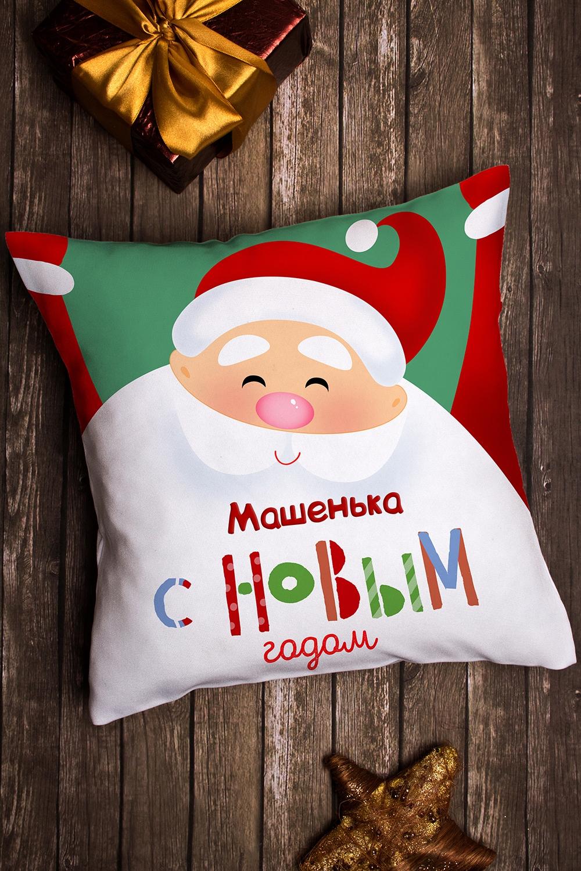 Подушка декоративная с именной вышивкой Дед МорозДекоративные подушки<br>Подушка декоративная, 35*35см, текстиль, с персональной вышивкой<br>