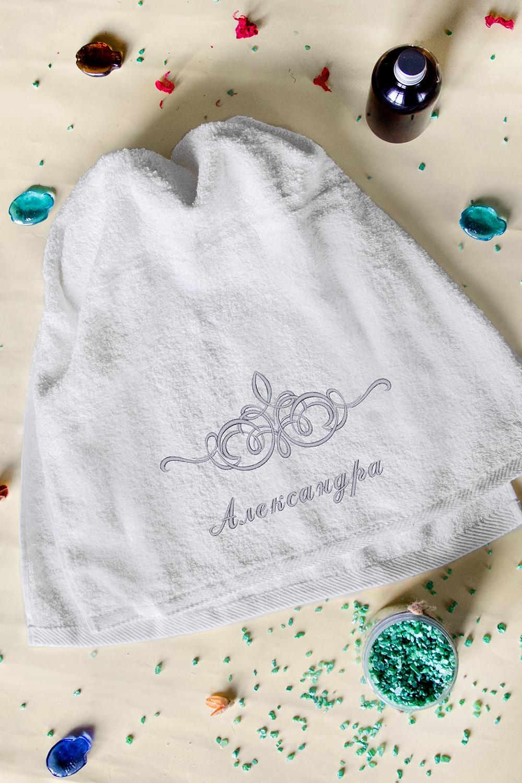 Полотенце с именной вышивкой ИменноеПодарки<br>Полотенце белое, размер 50*90см с именной вышивкой<br>
